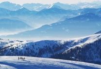 Vorschau Blick vom Falkertspitz Bergstation auf das Skigebiet Bad Kleinkirchheim Sankt Oswald
